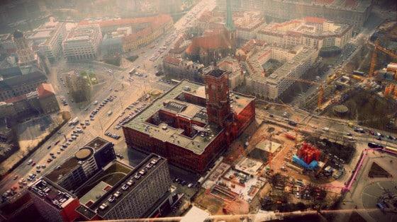 Ayuntamiento de Berlín desde la torre de la TV