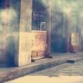 Humo de incienso en templo budista