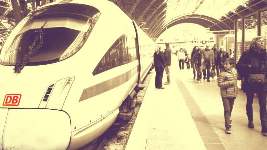 Berlin a Leipzig en tren