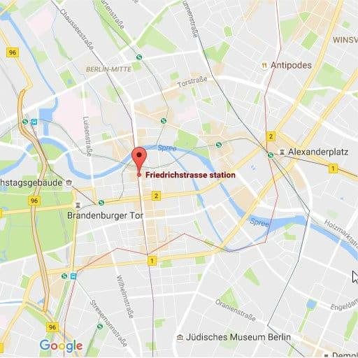 Mapa Friedrichstrasse
