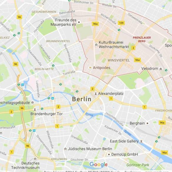 Mapa de Prenzlauer Berg