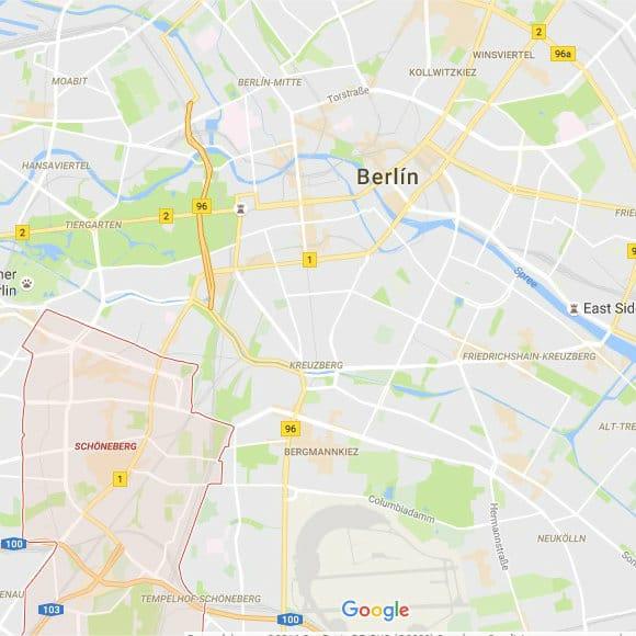 Mapa de Schöneberg