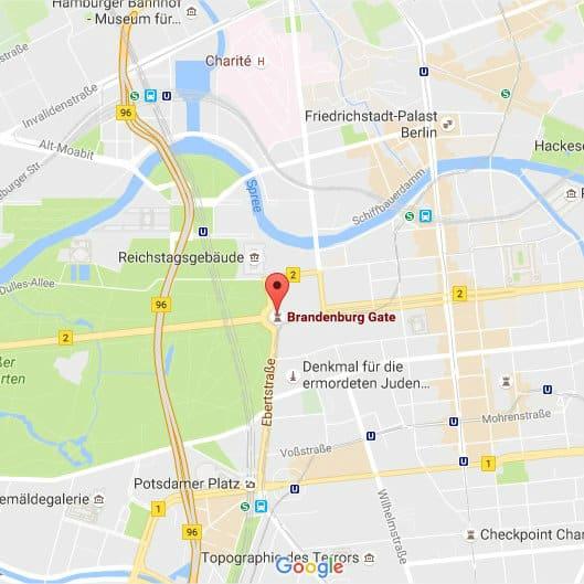 mapa puerta de Brandeburgo