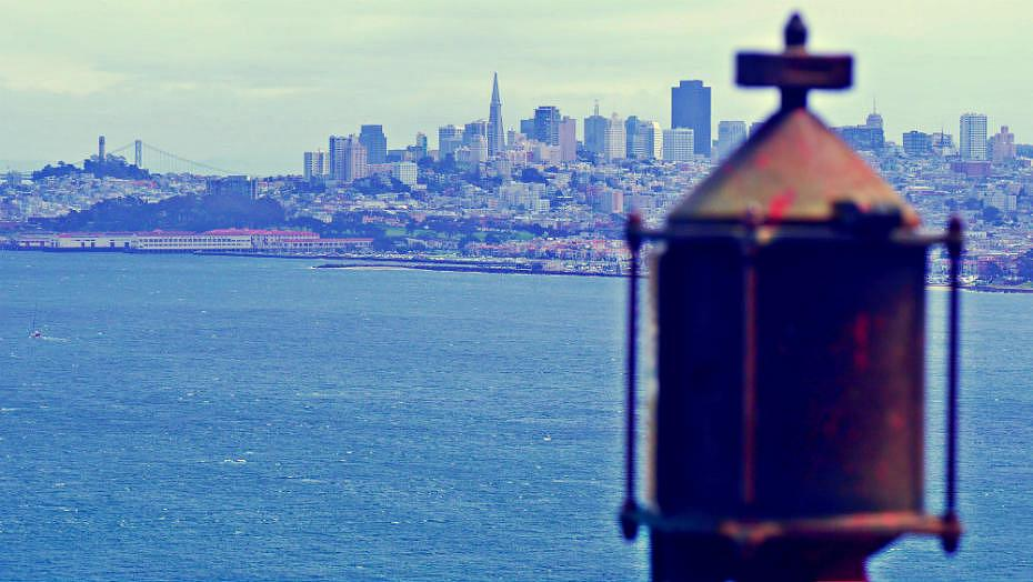 Vistas de San Francisco desde el Golden Gate
