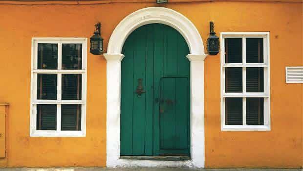 Casa amarilla en Cartagena