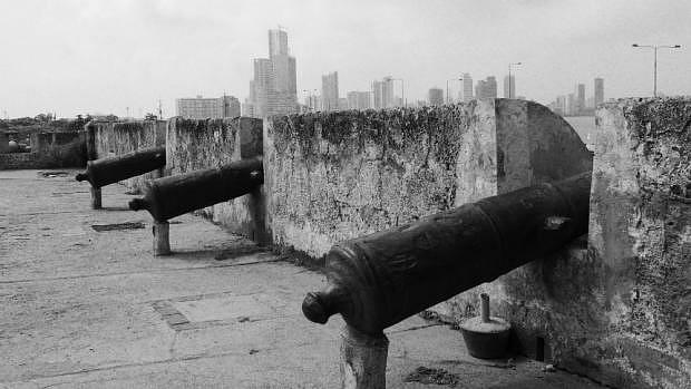 Murallas y cañones de Cartagena de Indias
