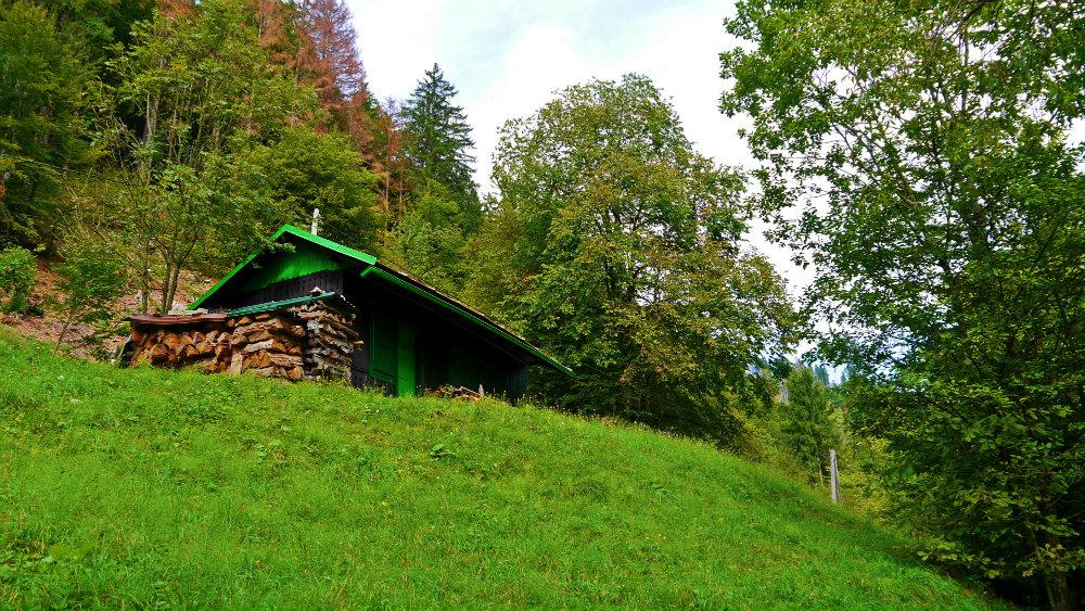 Cabaña en Podhom, en el camino a Vintgar
