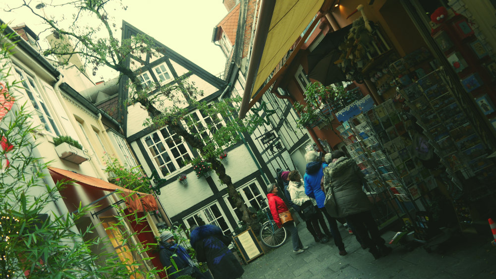 Barrio de Schnoor en Bremen