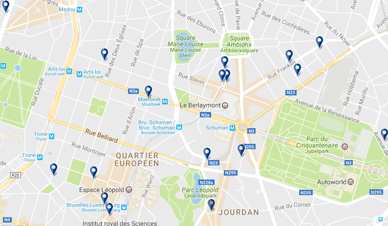 European Quarter - Click to see all hotels on a map