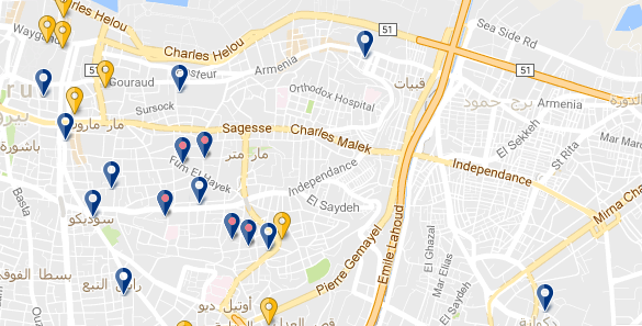 Beirut - Achrafieh - Click to see all hotels
