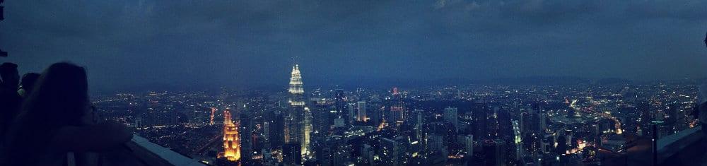 Panorámica de Kuala Lumpur desde la KL Tower