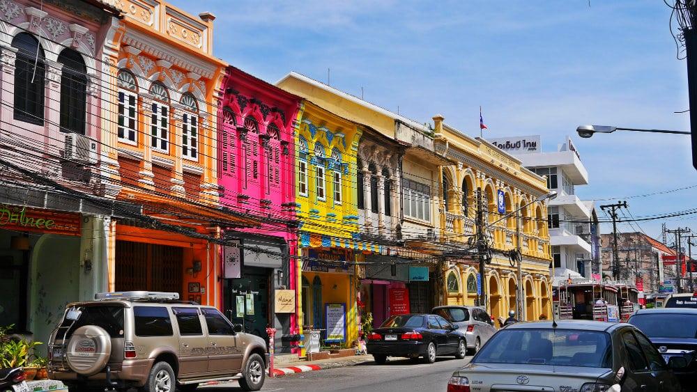 Calle comercial en Phuket Town