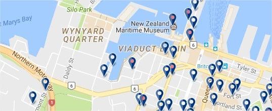 Dormir en Viaduct Harbour de Auckland - haz clic para ver todos los hoteles