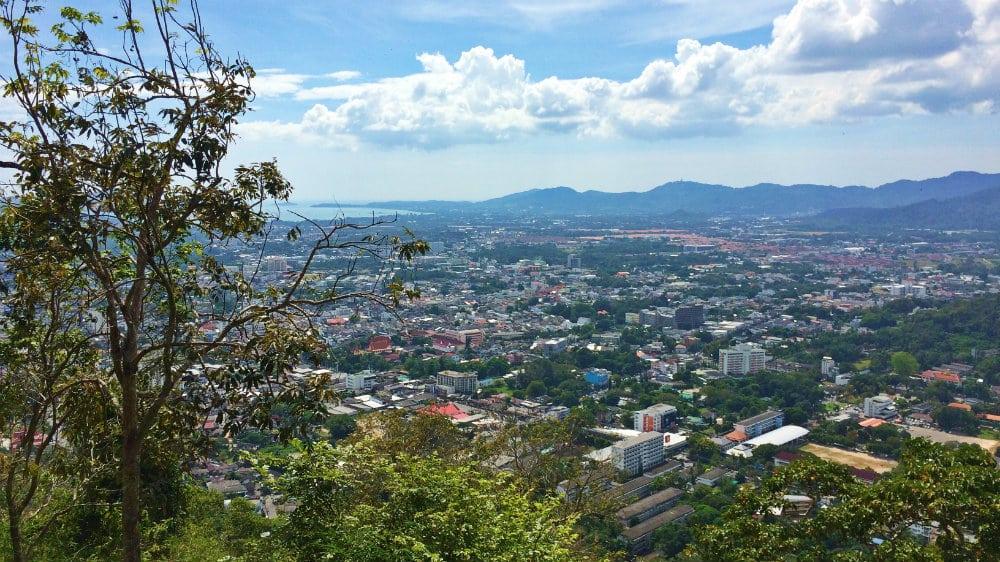 Vistas de Phuket Town desde Monkey Hill