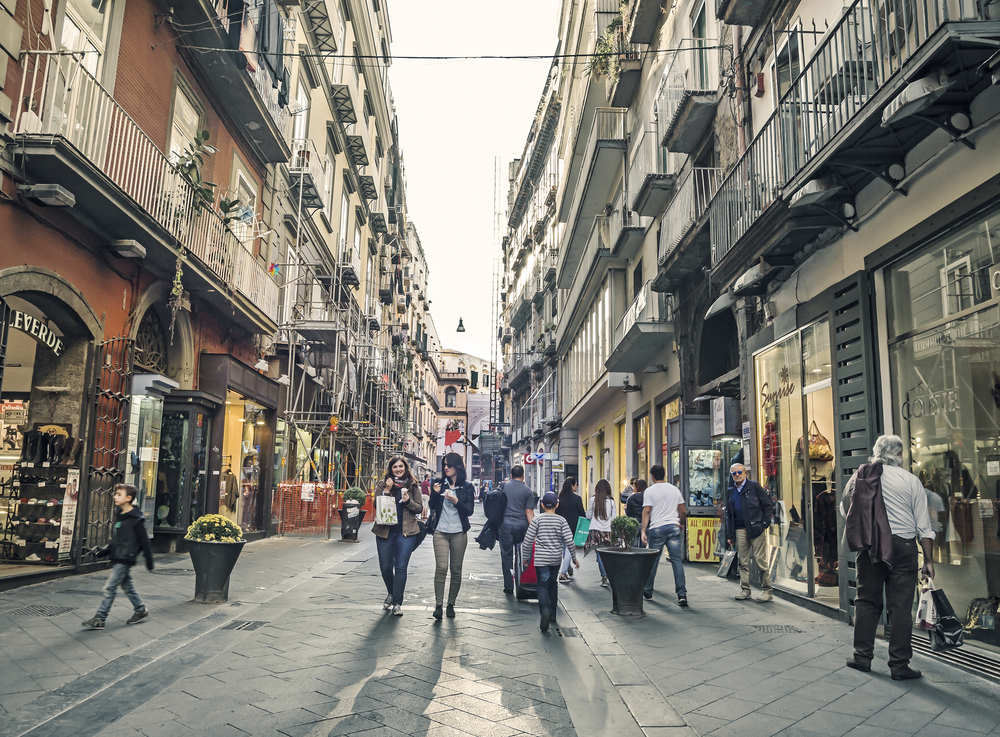 Stay in Chiaia, Naples shopping district