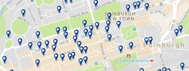 New Town de Edinburgh - Click to see all hotels on a map (opens in a new tab)