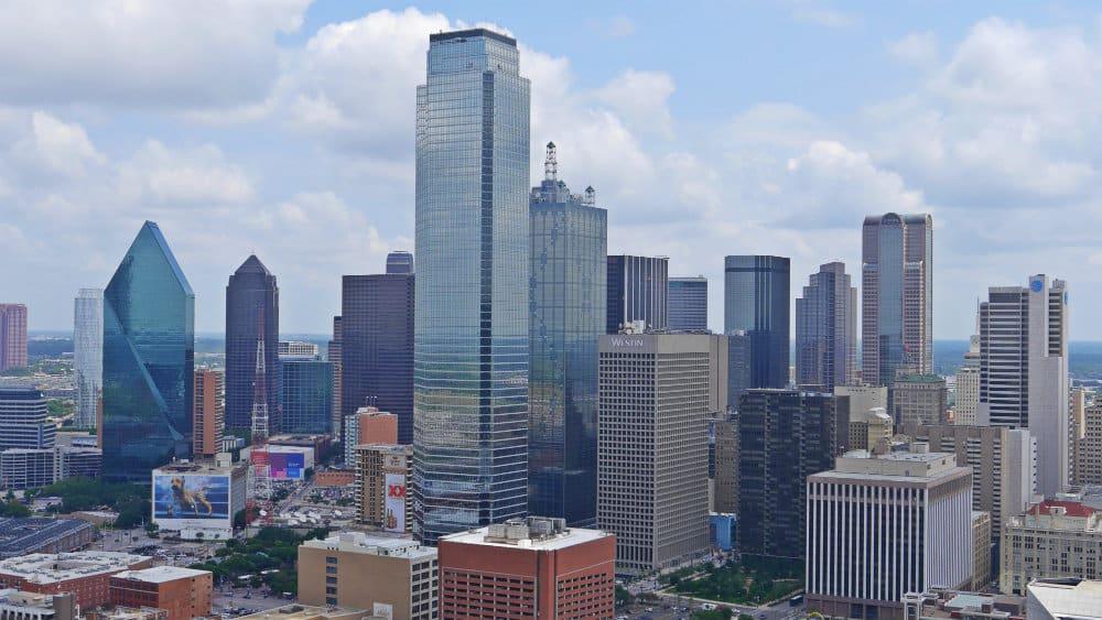 Vistas de Dallas desde el GeO Deck de la Reunion Tower