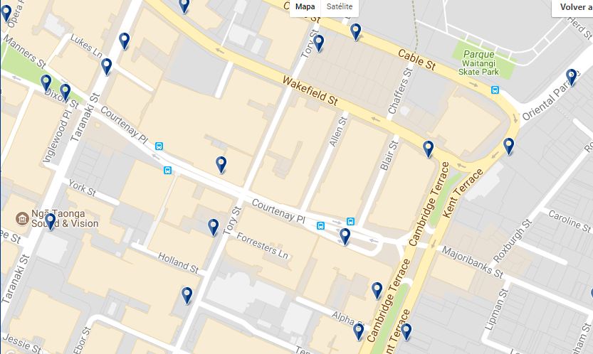 Wellington Courtenay Place - Click to see all hotels in this area on a map