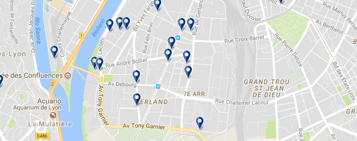 7 arr. Lyon - Click to see all hotels on a map