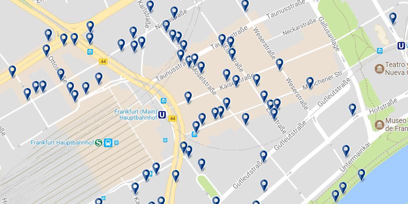 Frankfurt - Banhofviertel - Cliquez ici pour voir tous les hôtels sur une carte