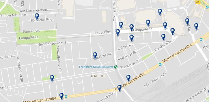 Frankfurt - Gallusviertel - Cliquez ici pour voir tous les hôtels sur une carte