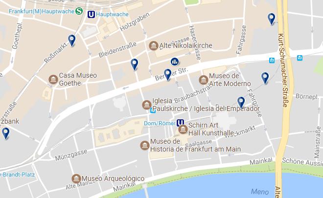 Frankfurt - Zentrum-Altstadt - Cliquez ici pour voir tous les hôtels sur une carte