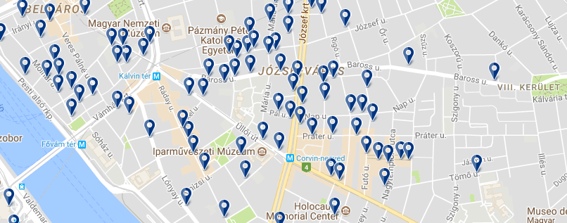 Jósefváros - Click to see all hotels on a map