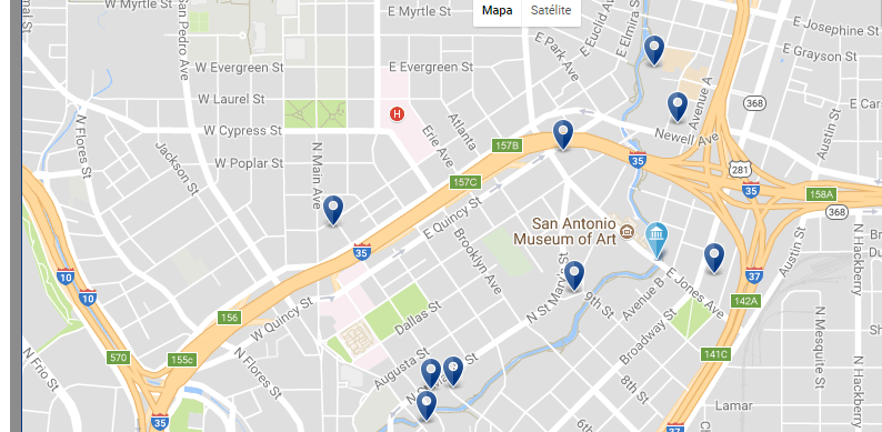 Pearl & San Antonio Museum of Art - Click to see all hotels on a map