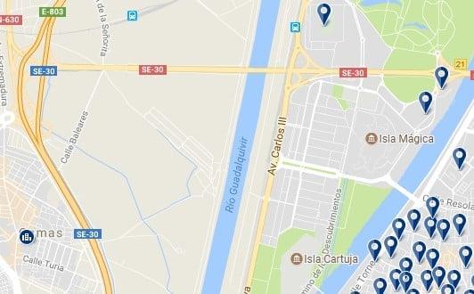 Isla de la Cartuja, Siviglia - Clicca qui per vedere tutti gli hotel su una mappa