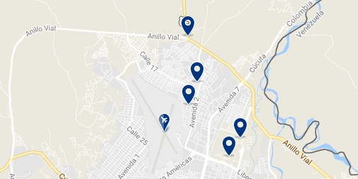 Cúcuta - Camilo Daza Airport - Click to see all hotels on a map