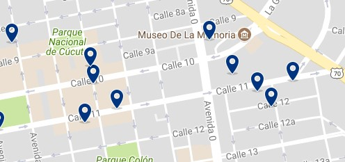 Cúcuta - Calle 10 & Shopping Mall Ventura Plaza - Click to see all hotels on a map