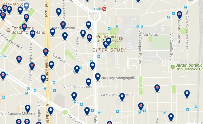 Milano - Città Studi - Click to see all hotels on a map