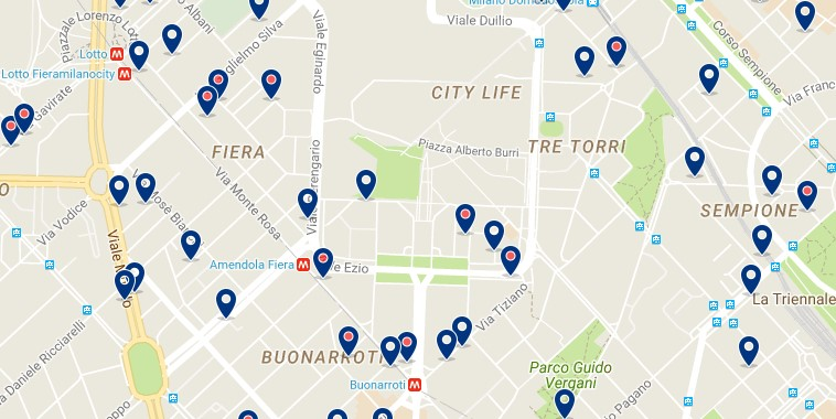 Milano - Fiera Milano City - Click to see all hotels on a map