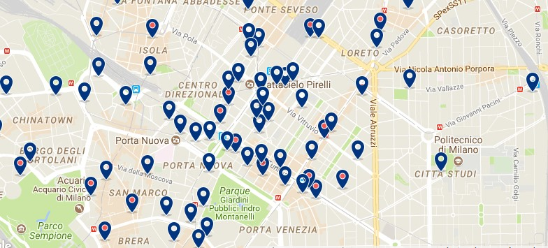 Milano - Stazione Centrale - Click to see all hotels on a map