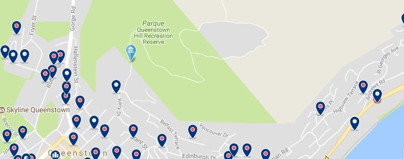 Queenstown - Queenstown Hill - Click to see all hotels on a map