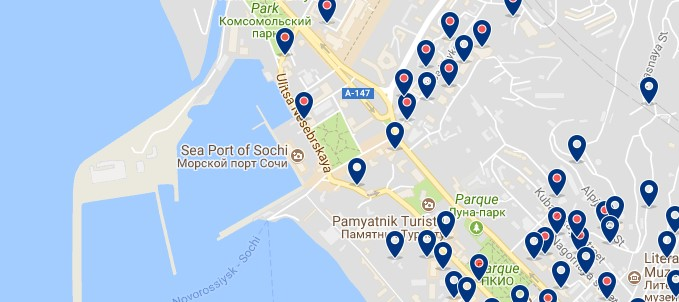 Sochi - Port - Click to see all hotels on a map