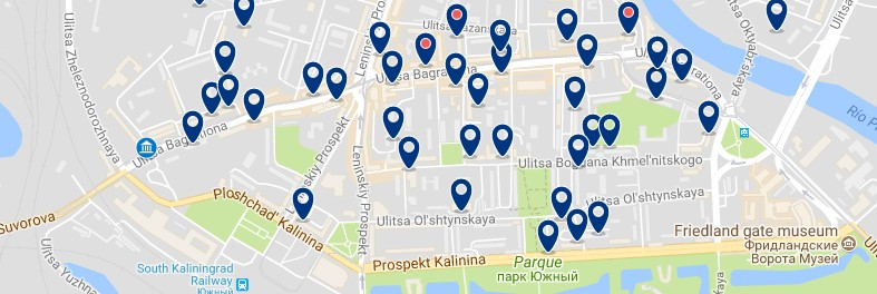 Kaliningrad - South - Center (Brandenburg Gate) - Click to see all hotels on a map