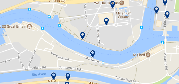 Bristol - Harbourside - Click here to see all hotels on a map