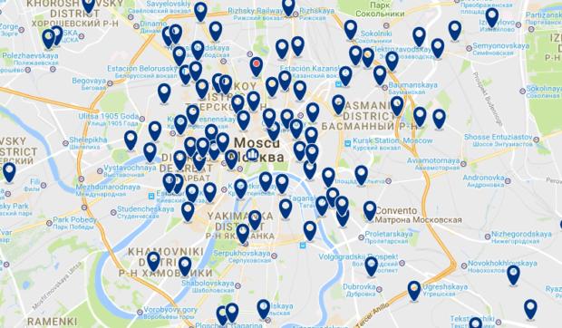 Moscú - Basmanny - Haz clic para ver todos los hoteles en un mapa