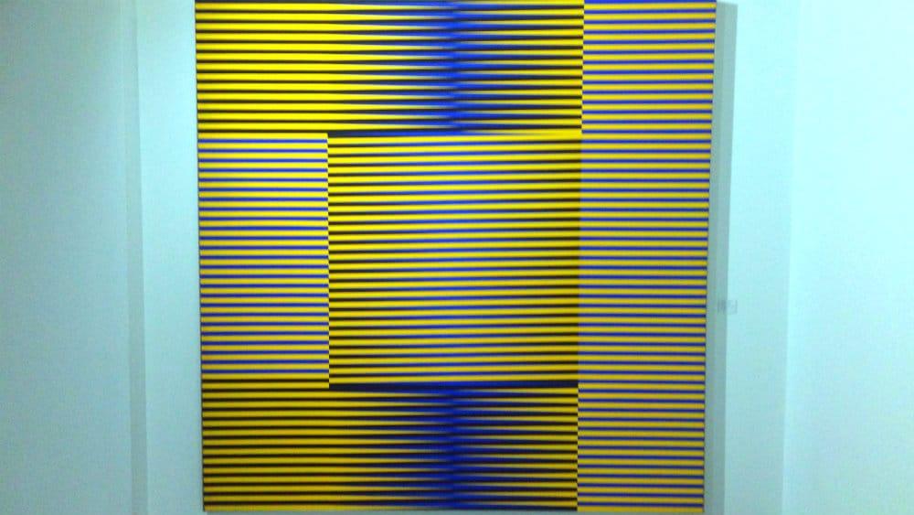 Obra cinética de Carlos Cruz Diez en su museo de Caracas