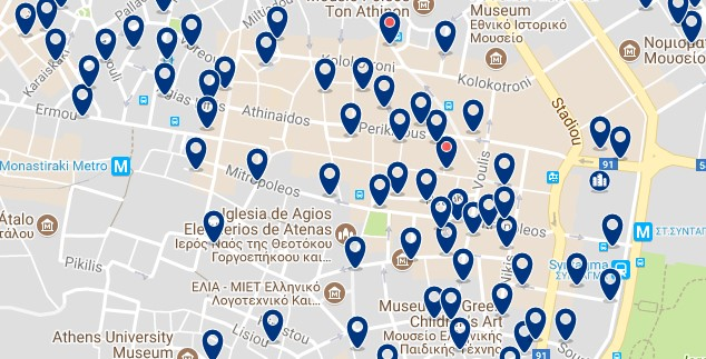 Athens - Syntagma - Click to see all hotels on a map