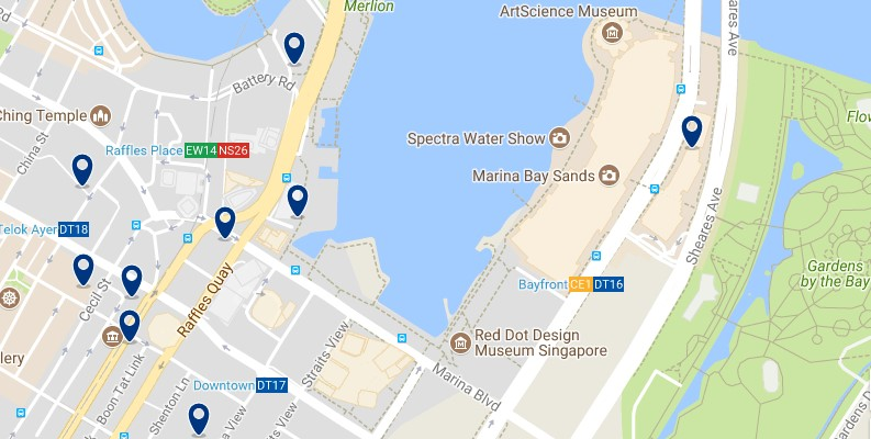 Singapore- Marina Bay - Click to see all hotels on a map