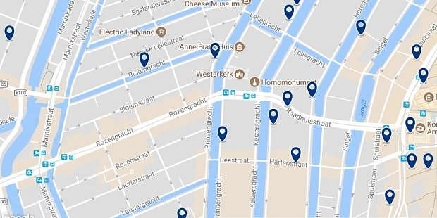 Amsterdam - Jordaan - Click to see all hotels on a map