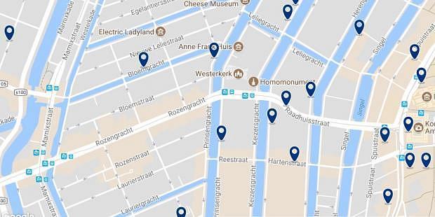 Amsterdam - Jordaan - Haz clic para ver todos los hoteles en un mapa