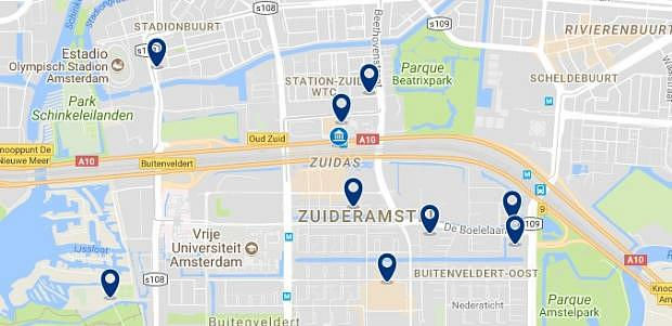 Amsterdam - Zuidas - Click to see all hotels on a map