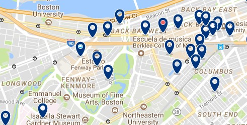 Boston - Fenway-Kenmore - Click to see all hotels on a map