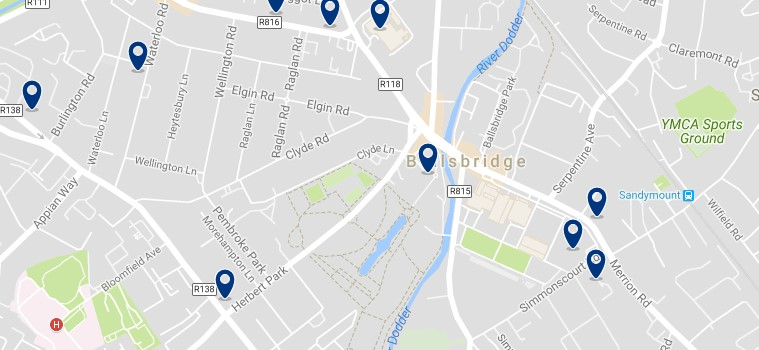 Dublin - Ballsbridge - Click to see all hotels on a map