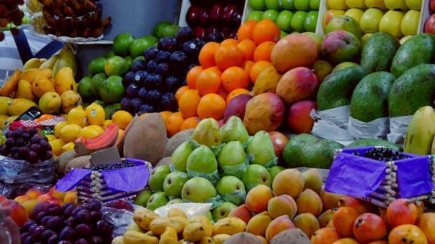 Frutas en el Mercado de San Juan - Centro Histórico de Ciudad de México