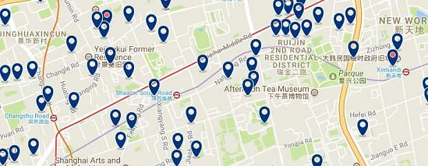 Shanghai - Huahai Road - Click to see all hotels on a map