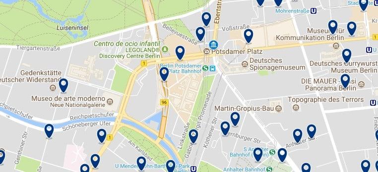 Berlin - Potsdamer Platz - Haz clic para ver todos los hoteles en un mapa